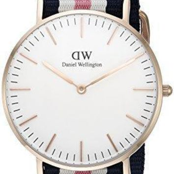 Daniel Wellington Women's 0506dw Classic Southhampton Stainless Steel Watch With Multi Color Striped Band