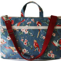 Waterproof- 13 inch Macbook or Laptop bag with handles and detachable shoulder strap- Spring  -Ready to ship