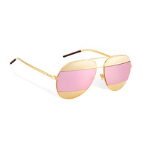 """dior split"" sunglasses, gold-tone and pink - Dior"