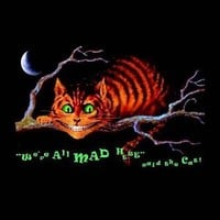 Alice in Wonderland (Cheshire Cat, We're All Mad Here) Blacklight Poster Print