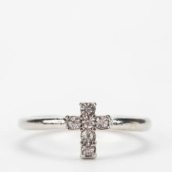 Urban Outfitters - Tiny Cross Ring