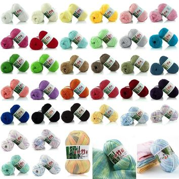Soft Tencel Bamboo Cotton Knitting Yarn Crochet Wool DIY Weaving Craft 50g/Ball