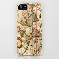 Vintage Map iPhone & iPod Case by Maximilian San