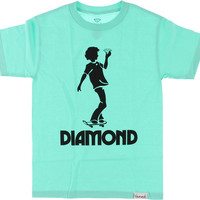 Diamond Skate Kid Tee XL Diamond Blue