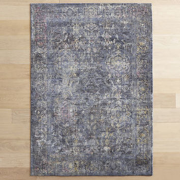 Hazel Traditional Dark Blue Rug