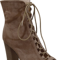 Brenna Booties - Taupe