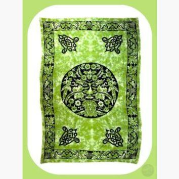 Green & Black Greenman Tapestry