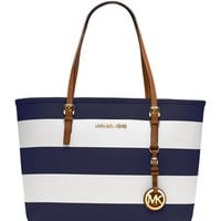 MICHAEL Michael Kors  Small Jet Set Striped Travel Tote - Michael Kors