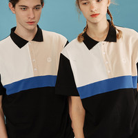 Smily Face Color Block Polo Shirt