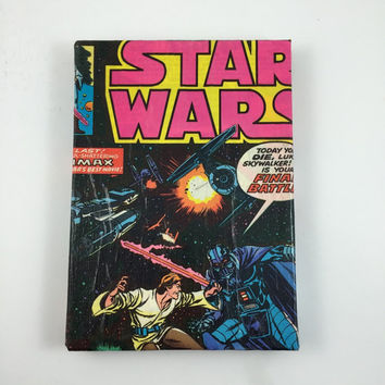 Star Wars Comic Book Cover Hanging Picture - One of a Kind - Star Wars