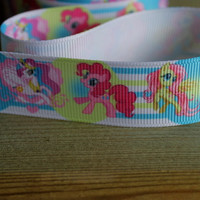 """My little Pony character printed grosgrain ribbon 25mm 1"""" wide"""