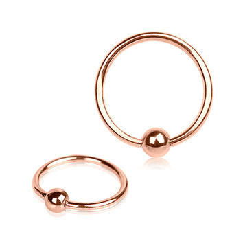 Rose-Gold Plated Captive Bead Ring