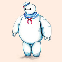 Bay Puft Marshmallow Max Art Print by Ludwig Van Bacon