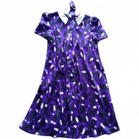 Purple viscose dress TARA JARMON Purple