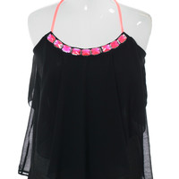 Plus Size Sheer Vibrant Color Glam Pink Top, Plus Size Clothing, Club Wear, Dresses, Tops, Sexy Trendy Plus Size Women Clothes