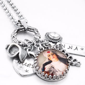 Nurse Necklace, Gift for Nurse, Personalized