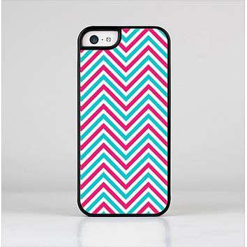 The Blue & Pink Sharp Chevron Pattern Skin-Sert Case for the Apple iPhone 5c