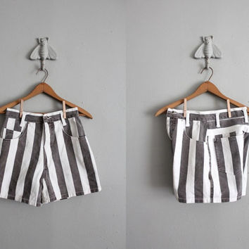 $45.00 vintage striped denim shorts by allencompany on Etsy