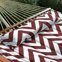 Island Bay 13 ft. Chevron Stripe Quilted Hammock with 15 ft. Hammock Stand | www.hayneedle.com