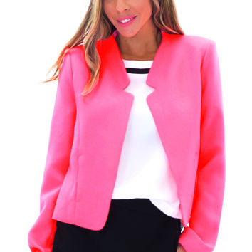 VERONIQUE NEON BLAZER - BUBBLE GUM