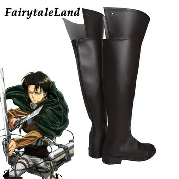 Cool Attack on Titan  Rival Ackerman Cosplay Shoes Halloween Costume Accessory cosplay Rival Mikasa Ackerman Dot Pixis boots AT_90_11