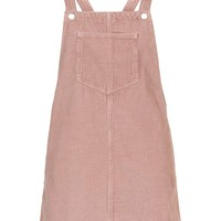 MOTO Pink Cord Pinafore Dress - Topshop
