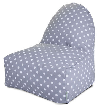 Gray Ikat Dot Kick-It Chair