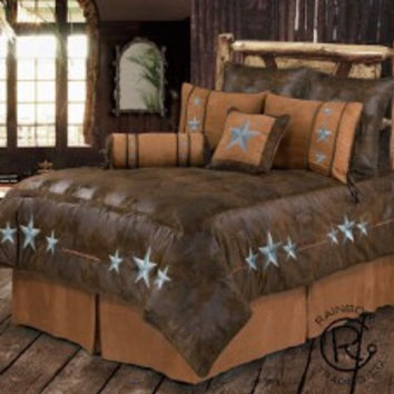 Turquoise Triple Star Bed Set