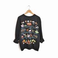 Vintage Noah's Ark Sweatshirt with Puff Paint Animals - large