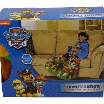 ICIKIHN Nickelodeon Paw Patrol Race to the Rescue Blanket/SLEEVES Comfy Throw YOUTH