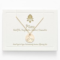 Women's Ija 'Small Zodiac' 14k-Gold Fill Necklace