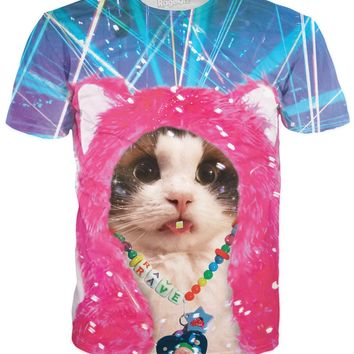ROTS Rave Kitty T-Shirt (AOP)
