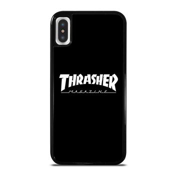 THRASHER SKATEBOARD MAGAZINE BLACK iPhone 5/5S/SE 5C 6/6S 7 8 Plus X/XS Max XR Case Cover