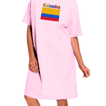Colombia Flag Adult Wear Around Night Shirt and Dress