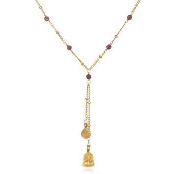 Garnet Pathways Necklace