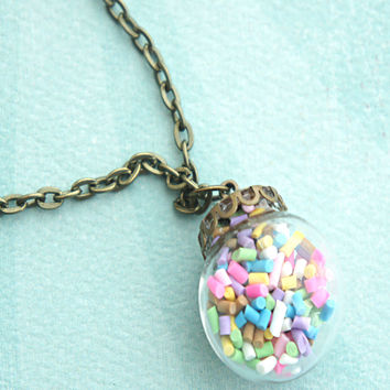 Candy Sprinkles Globe Necklace