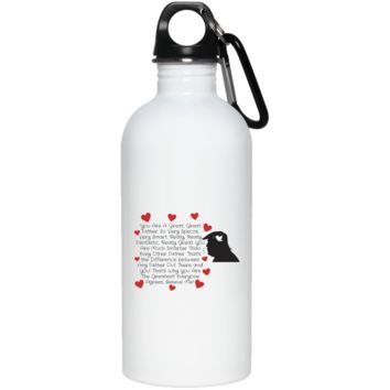 Funny Father's Day Gift For Dad From Wife, Daughter, Son, Stepdaughter, Stepson, Mom, Grandma, Mother In Law ((5)transp backgr 23663 20 oz. Stainless Steel Water Bottle))