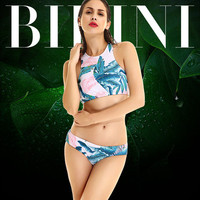 2017 Trending Fashion Floral Printed Sexy Floral Printed Steel Pallets Underwire Two-Piece Erotic Bikini Swim Suit Beach Bathing Suits Swimwear _ 13238