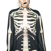 FAUX REAL All Bonez Long Sleeve Tee OFF WHITE