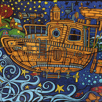 3D - Steampunk Tugboat - Tapestry