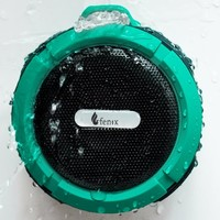 Fenix Wireless Waterproof Bluetooth 3.0 Shower / Outdoor 5W Speaker - Built in Mic with Control Buttons, Carabiner Clip and Detachable Suction Cup for iPhone, iPad, Samsung Galaxy, LG, HTC, Tablets, MP3 Players, iPod's and More