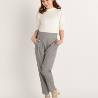 LIZ LISA High-Waisted Tucked Pants