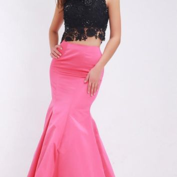 Mermaid Evening Dresses New Styles Beading Lace Crop Top Floor-Length Long Formal Dresses for Women