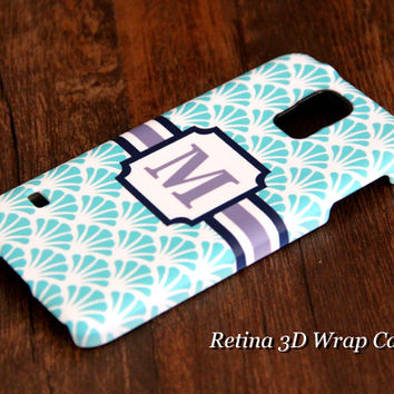 Spindrift Floral Monogram Samsung Galaxy S5/S4/S3/Note 3/Note 2 Protective Case