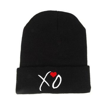 LMOFN1 Perfect The Weeknd XO Embroidery Hiphop Women Men Beanies Winter Knit Hat Cap