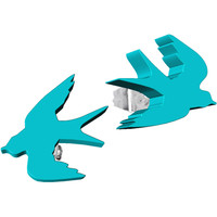 Turquoise Acrylic Birds in Flight Stud Earrings | Body Candy Body Jewelry