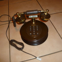 Working Vintage Retro Brown Telephone