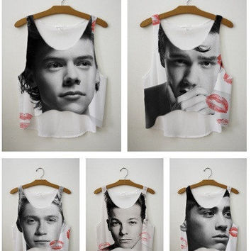BID WAR~ for One Direction Crop Top  LipStick Kiss Exclusive Collection | fresh-tops.com