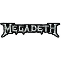 Megadeth Men's Embroidered Patch Black