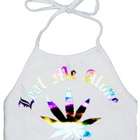 """Leaf Me Alone"" Halter"